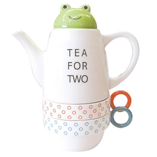 Animal Tea Four Two Frog Pot Cup Set For And