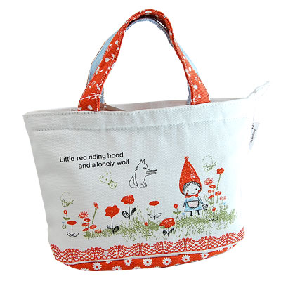 Little Red Riding Hood (and wolves) cute insulated lunch bag syndicate  Petit brult cute lunch bag Shinzi Katoh design