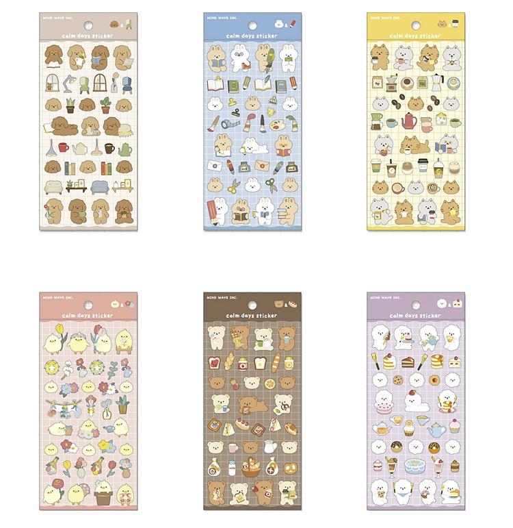 シール カームデイズ ステッカー 動物 アニマル 直営店 小動物 calm 市場 days シートシール sticker