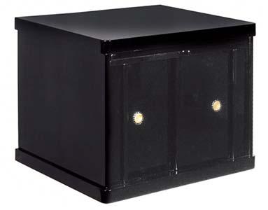 仏壇専用台 黒塗り  (膳引き付き) 中サイズ高さ41cm 幅49cm 奥行39cm