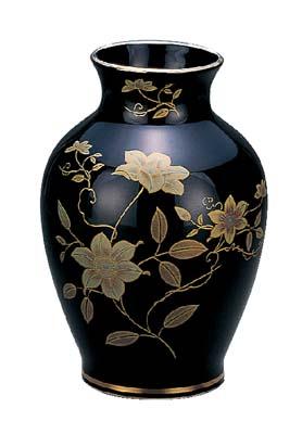 陶器  花瓶  (全宗派共通) 黒鉄仙  高さ30cm