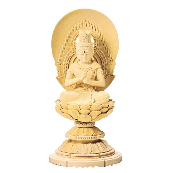 緻密な木目と滑らかな木肌が特徴の総白木で作られた丸台座の仏像です 仏具 御本尊 仏像 大日如来 総白木 売り出し 高さ:16.5cm~29.0cm 丸台座 販売実績No.1 真言宗 1.8寸~3.5寸