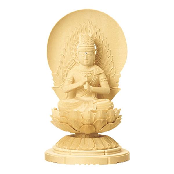 緻密な木目と滑らかな木肌が特徴の総白木で作られた低丸台座の仏像です 仏具 御本尊 仏像 大日如来 宅送 1.5寸~3.0寸 C型低丸台座 記念日 高さ:12.2cm~22.6cm 総白木 真言宗