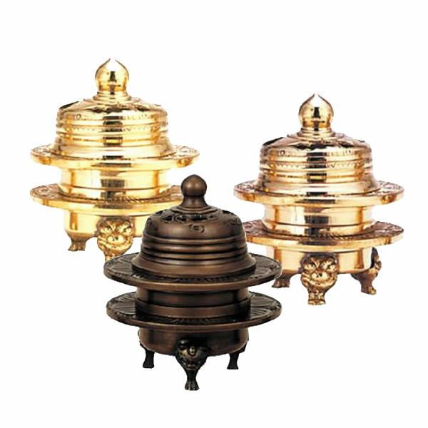 【仏具】火舎香炉 伝統型 彫入タイプ(サイズ・1.6寸~2.5寸)
