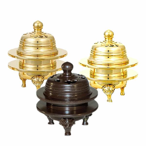 【仏具】火舎香炉 伝統型 彫入タイプ サイズ・1.6寸