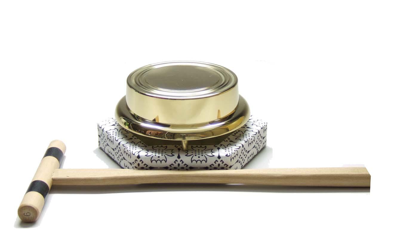 ヘソ付 鉦鼓(浄土宗用) 鉦鼓の直径 13.5cm