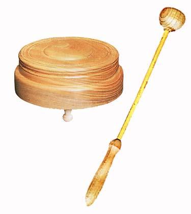 木鐘・撥セット(日蓮宗用) 木鐘の直径 19.5cm