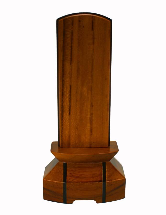 モダン位牌  チーク材  [ 絆 ] 3.5号 (書き代込) 総高さ147mm台幅71mm奥行41mm