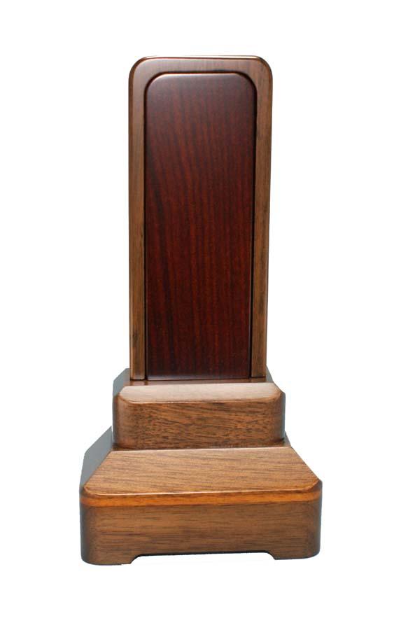 モダン位牌  ウォールナット材  [ 常葉 ] 内紫檀 3.0号 (書き代込) 総高さ145mm台幅81mm奥行38mm