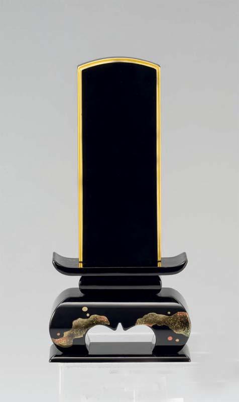 モダン塗り位牌 【フィオーレ 星の空 】 ブラック 3.5号(1名様分の書き代込み) 総高さ151mm台幅66mm奥行39mm
