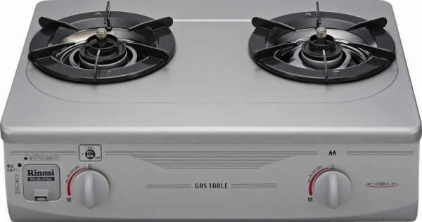 リンナイ家庭用テーブルコンロ フッ素トップ天板 グリル無し【RTS-336-2FTS(SL)】