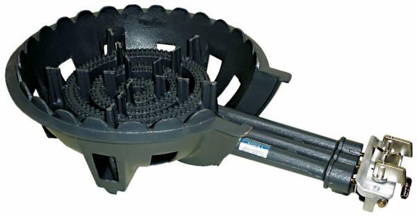 鋳物コンロ 三重 種火無し ガスバーナー(普及タイプ) 底枠付 SB301 (旧品番 C-36-1)(タチバナ TS-330 類似品)