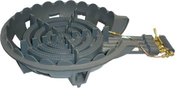 鋳物コンロ 四重・種火付 ガスバーナー(普及タイプ) 底枠付 SB401P (旧品番 C-36-0P)(タチバナ TS-440P 類似品)