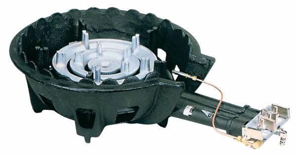 タチバナ製作所 鋳物コンロ(ハイカロリータイプ) 三重 種火付 底枠付 TS-308P (業務用ガスバーナー)