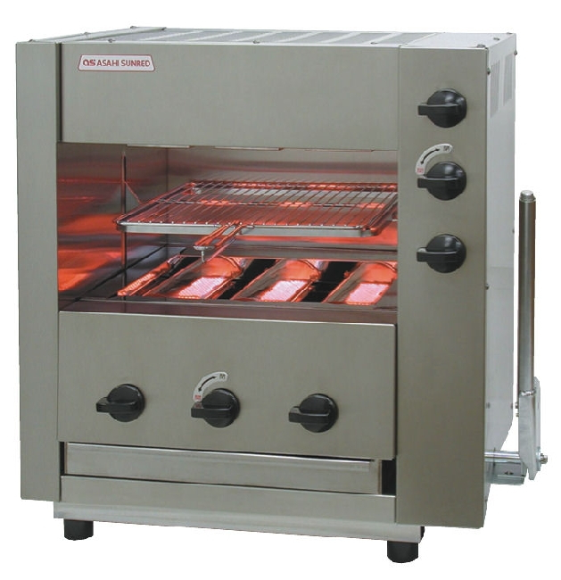 アサヒサンレッド ガス赤外線グリラー 両面焼物器 武蔵 SGR-33EX (圧電点火)