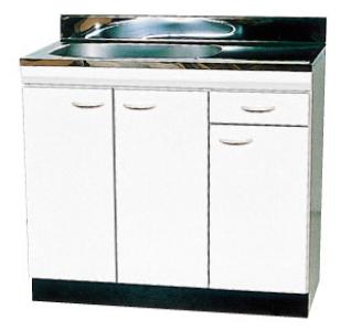 ドルフィン*Dolphin* ブロックキッチン VEDシリーズ 流し台(デッキ水栓タイプ) VED900[R/L] 公団