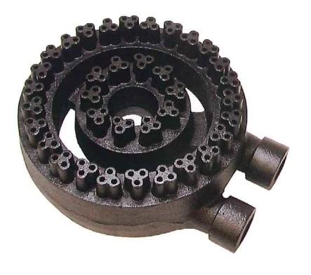 業務用(工業用)強力中華バーナー(三つ葉バーナー)10インチ(直径255mm)【RKA10】