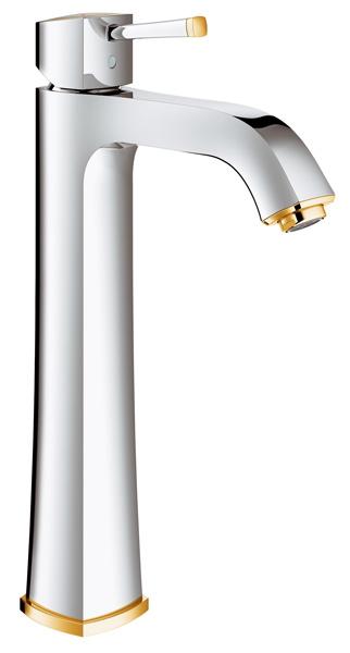 グローエ*GROHE* GRANDERA(グランデラ) シングルレバー洗面混合栓(据置き洗面器用/引棒無) 【23 313 IGJ】 クローム×ゴールド ※受注生産品