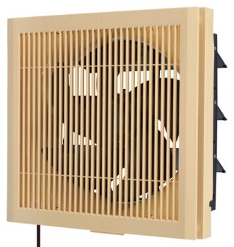 三菱電機*MITSUBISHI* 標準換気扇 【EX-25LX7】 居間用 木調格子タイプ 連動式シャッター 引きひも付 電源コード(プラグ付)