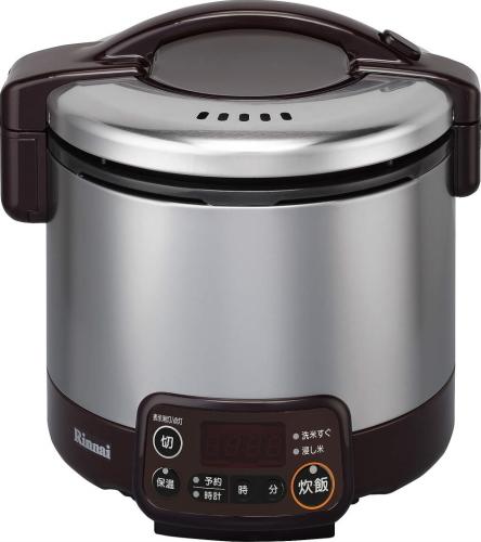 リンナイ家庭用ガス炊飯器 (こがまる) 0.5~3合 タイマー・ジャー付【RR-030VMT(DB)】