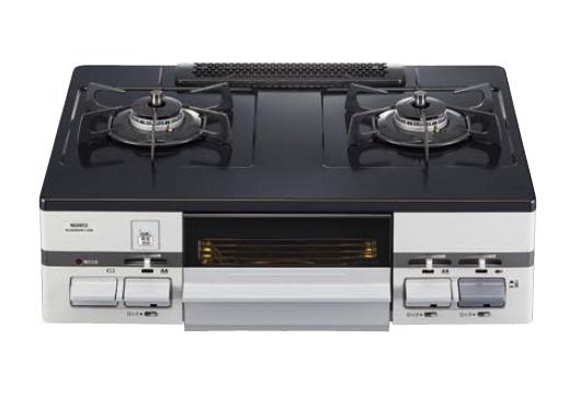 ノーリツ ガステーブルコンロ 【NLG2280Q1LGM】 ホーロートップ 水無片面焼グリル