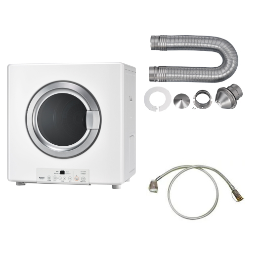 リンナイ ガス衣類乾燥機 乾太くん RDT-54S-SV 乾燥容量5kg ガスコード接続タイプ ガスコード/排湿管セット付