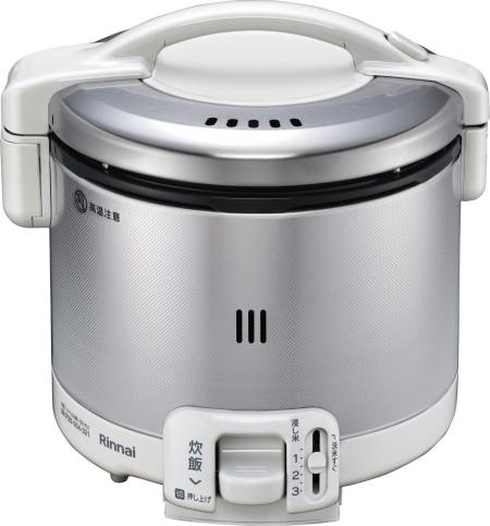 リンナイ ガス炊飯器 0.54L 0.5~3合炊【RR-030FS(W)】 グレイッシュホワイト