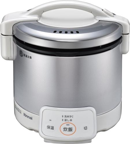 リンナイ 家庭用ガス炊飯器 0.54L 0.5~3合 ジャー付【RR-030VQ(W)】グレイッシュホワイト