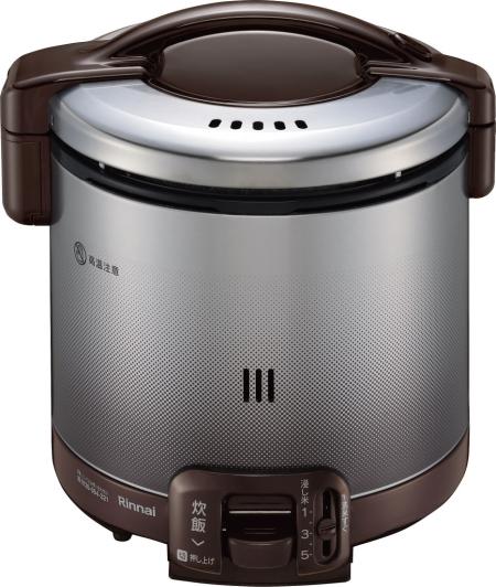 リンナイ ガス炊飯器 0.9L 1~5合炊【RR-050FS(DB)】 ダークブラウン