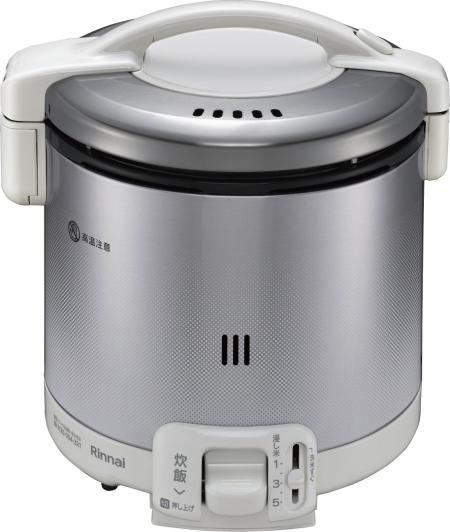 リンナイ ガス炊飯器 0.9L 1~5合炊【RR-050FS(W)】 グレイッシュホワイト
