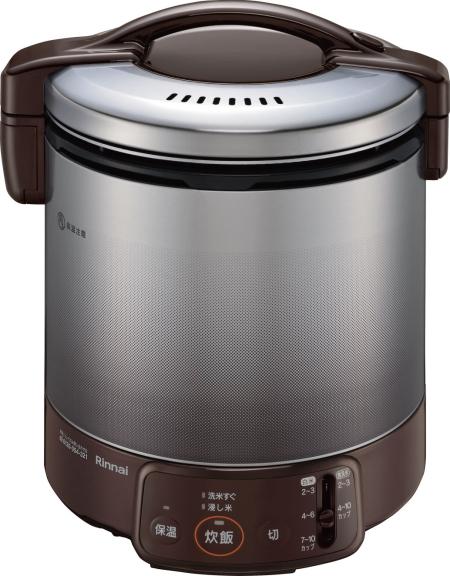 リンナイ 家庭用ガス炊飯器 1.8L 2~10合 ジャー付【RR-100VQ(DB)】ダークブラウン