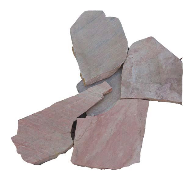 乱形石材 アルビノピンク 4束セット(約0.25平米 × 4)敷石 乱形石 石材 建材 和風庭園 茶庭 張石 建物の床石 壁石【送料無料】【代引き不可】