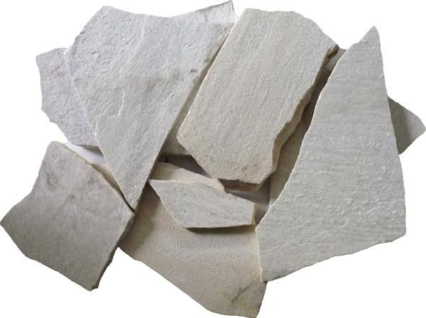 乱形石材 アルビノホワイト 4束セット(約0.25平米 × 4)敷石 乱形石 石材 建材 和風庭園 茶庭 張石 建物の床石 壁石【送料無料】【代引き不可】