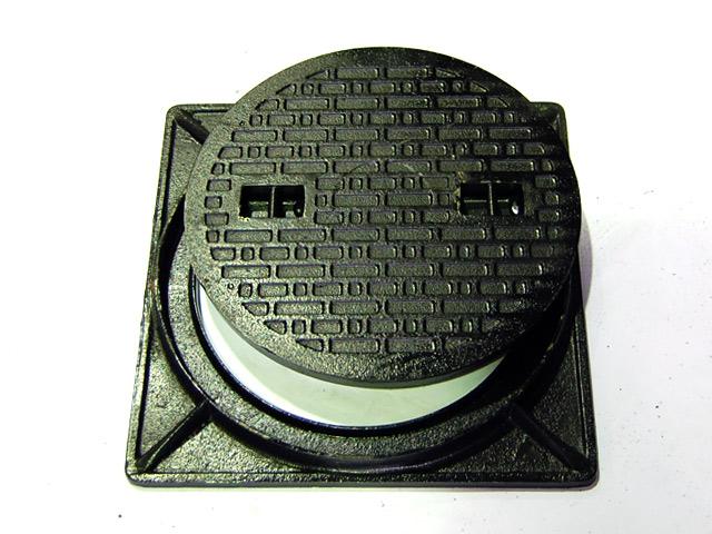 【耐荷重:約500kg】マンホール フタ 浄化槽 蓋 枠 鋳鉄製 マンホール フタ径360mm フタ枠セット 500kg荷重 穴径310mm MK-C-360 セット (枠付き) 歩道用 (普及型)マンホール 浄化槽 マンホール蓋