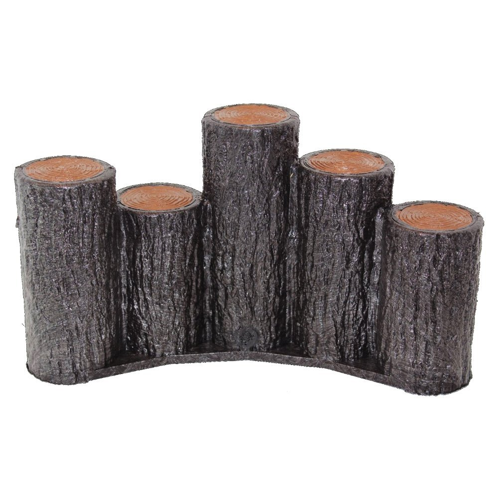 【送料無料】【お得な15個セット】サンポリ プラスティック擬木はなえ80 段違い5連アーチタイプ H200 お庭の縁取り花壇 樹脂製擬木 プラ 擬木プラ擬木 【代引き不可】