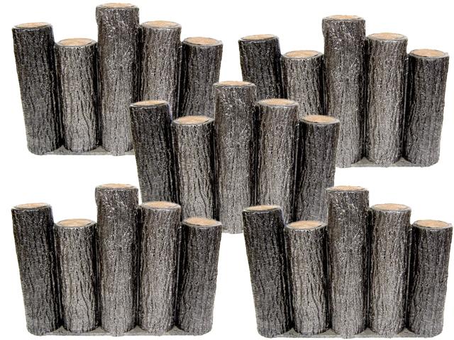 【送料無料】 【お得な20個セット】サンポリ プラスティック擬木はなえ80 段違い5連 H300お庭の縁取り花壇 樹脂製擬木 プラ 擬木プラ擬木 【代引き不可】