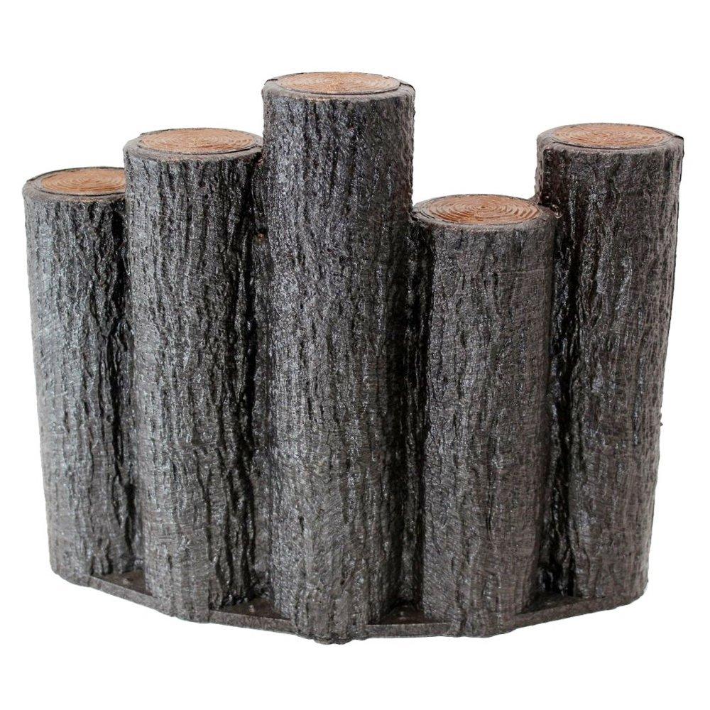 【送料無料】【お得な10個セット】サンポリ プラスティック擬木はなえ80 段違い5連アーチタイプ H300お庭の縁取り花壇 樹脂製擬木 プラ 擬木プラ擬木 【代引き不可】