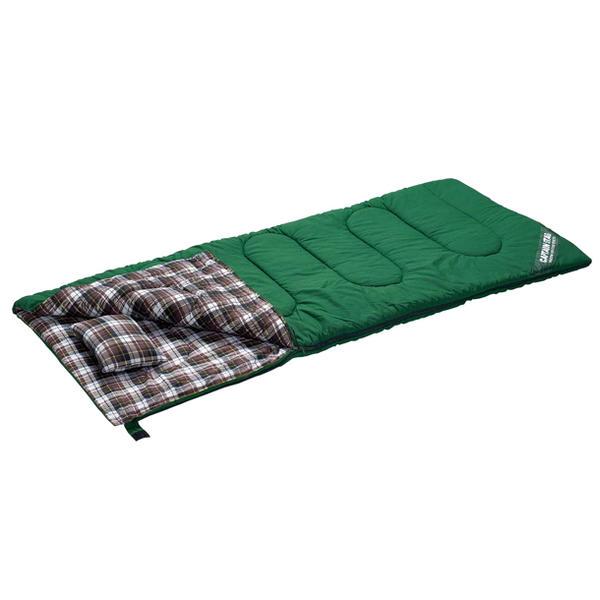 寝袋/グランデ 封筒型シュラフ1400(ピロー付)GR M-3471/