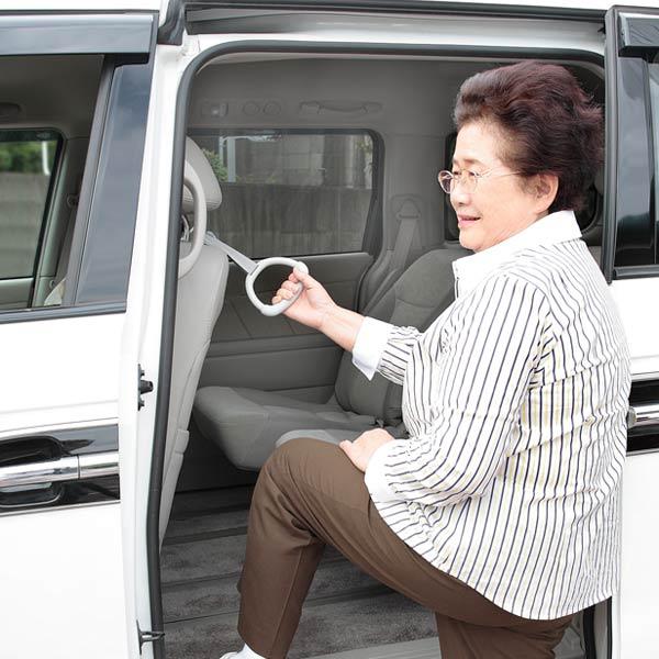 車用 持ち手 吊り輪 つり革 乗り降り ハンドル フック 安全 ごみ箱 グレー ラクラク持手 メール便 人気海外一番 日本製 くずかご 送料無料 SKO CL-67 いつでも送料無料 ホルダー