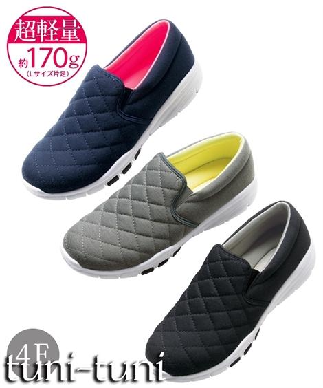 キルティングデザインが女性らしい印象の超軽量スリッポン 靴 シューズ 本物◆ 超軽量キルティングスリッポンスニーカー Seasonal Wrap入荷 ワイズ4E