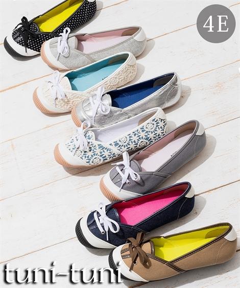 靴 シューズ テレビで話題 バレエスニーカー 低反発中敷 ワイズ4E 日本最大級の品揃え