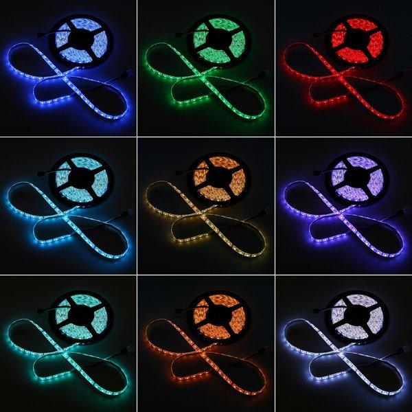 LED tape light waterproofing 5m 12V RGB full color 5050 150 black base high  output 2ch 12A controller remote control front light emission PL insurance