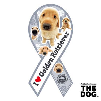 【訳あり】ペットグッズ リボンマグネットリボンマグネット THE DOGゴールデンレトリバー盲導犬応援 1枚入り(いぬ、犬、イヌ)