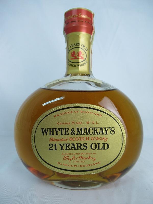 【全品☆ポイント2倍☆☆】ホワイトマッカイ 21年 WHYTE&MACKAY'S ウイスキー 特級 JAPAN TAX 1960s 760ml 43% スコッチ ウイスキー【中古】(未開封品)【レア】【希少】【ヴィンテージ】SS