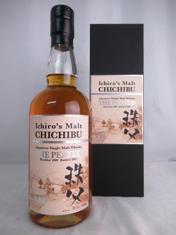 【全品☆ポイント2倍☆☆】Ichiro's Malt CHICHIBU THE PEATED Distilled 2009 Bottled 2012 イチローズモルト 秩父 ザ・ピーテッド 700ml 50.5% 箱付 ベンチャーウィスキー秩父蒸留所【中古】(未開封品)