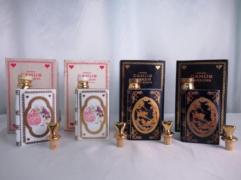 【全品☆ポイント2倍☆☆】※訳有含む CAMUS Napoleon Mini Book カミュ ナポレオン ミニブック 4点セット 天使の戯れ 紳士と淑女 替栓・箱(※ダメージ有)付 陶器 ブランデー 【中古】(未開封品)