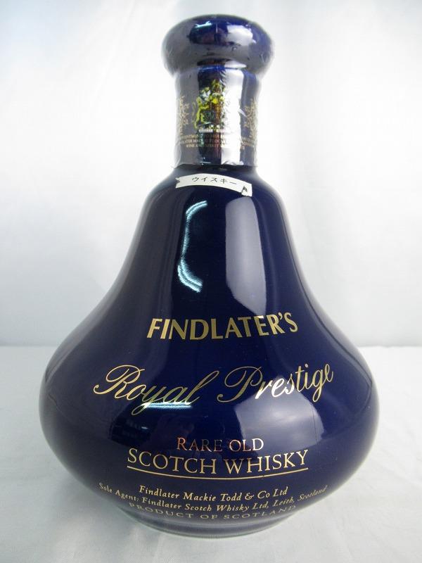 FINDLATER'S Royal Prestige RARE OLD フィンドレーター ロイヤルプレステージ レアオールド 陶器 青 重量1498g 700ml 43% スコッチ ウィスキー【中古】(未開封品)