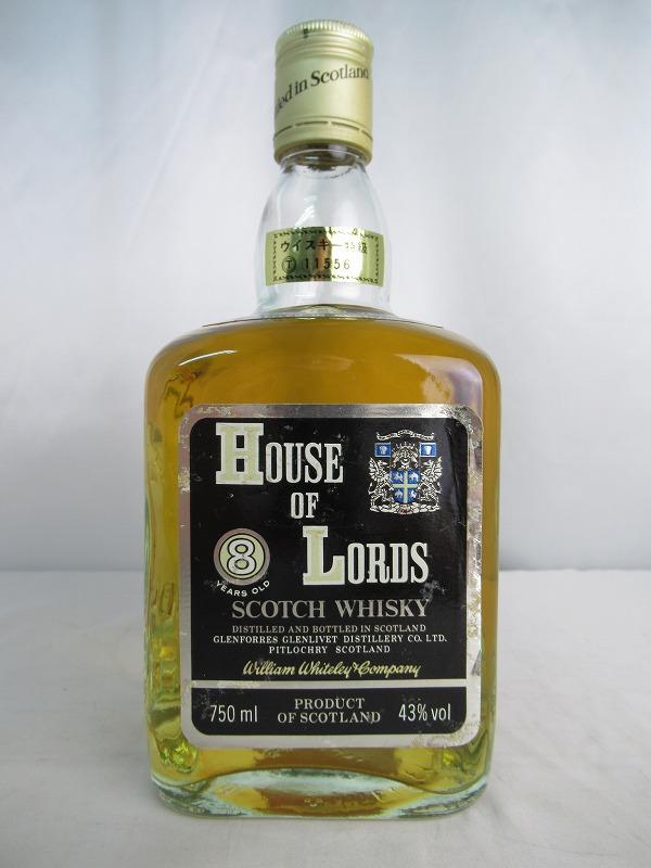 HOUSE OF LORDS ハウス オブ ローズ 8 YEARS OLD/8年 750ml 43% ウイスキー特級 スコッチ ウィスキー【中古】(未開封品)