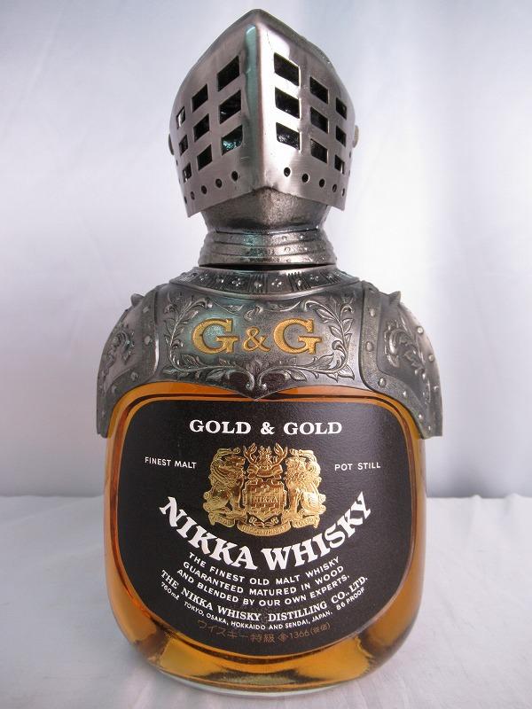 NIKKA WHISKY GOLD & GOLD ニッカ ウィスキー ゴールド アンド ゴールド 騎士 鎧 760ml 43度 ウィスキー特級表記有り ジャパニーズ ウィスキー【中古】(未開封品)