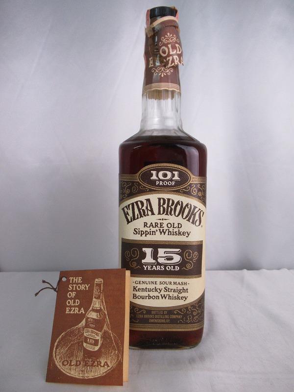 EZRA BROOKS RARE OLD Sippin' Whiskey 15 YEARS OLD 101 PROOF エズラ ブルックス レア オールド シッピン ウィスキー 15年 101 プルーフ 750ml 50.5度 小冊子付 バーボン ウィスキー【中古】(未開封品)